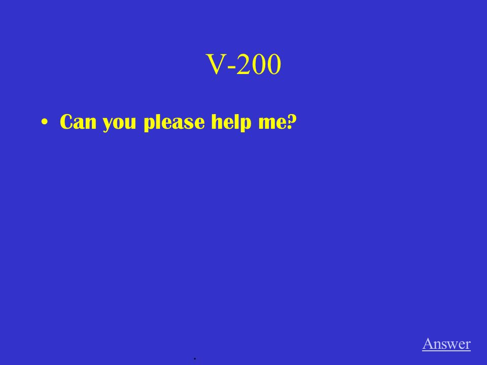 V-100 I did not like that book. Answer.