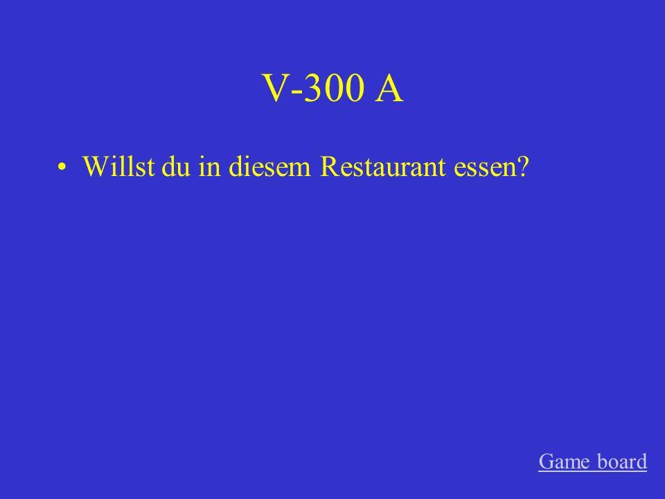 V-200 A Kannst du mir bitte helfen? Game board