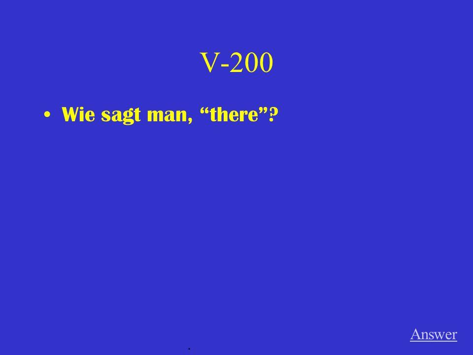 V-100 Was ist ein anderes Wort für Etage? Answer.