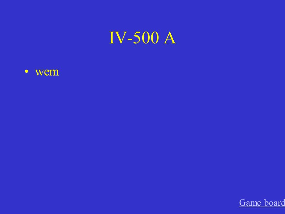 IV-400 A Wen Game board