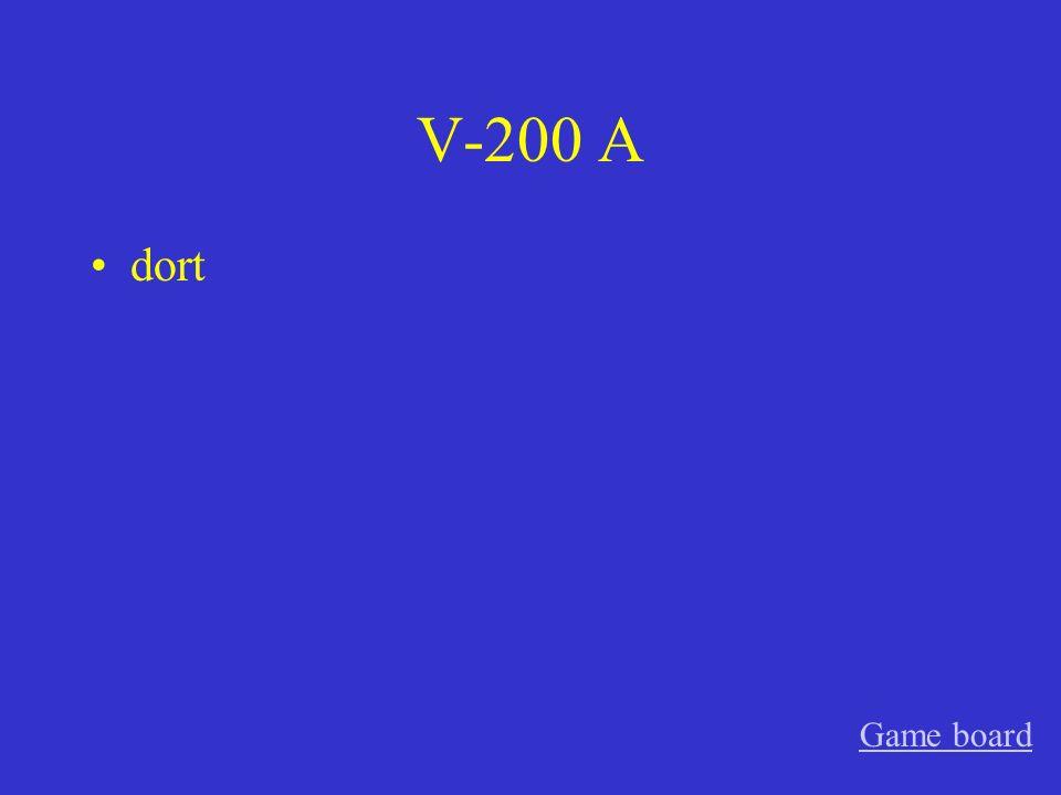 V-100 A Stock, Stockwerk, Geschoss Game board
