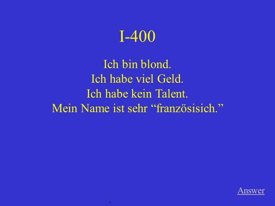 II-400 A Wer ist in der Deutschklasse? Game board