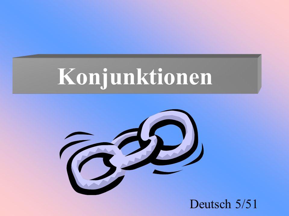 Konjunktionen Deutsch 5/51