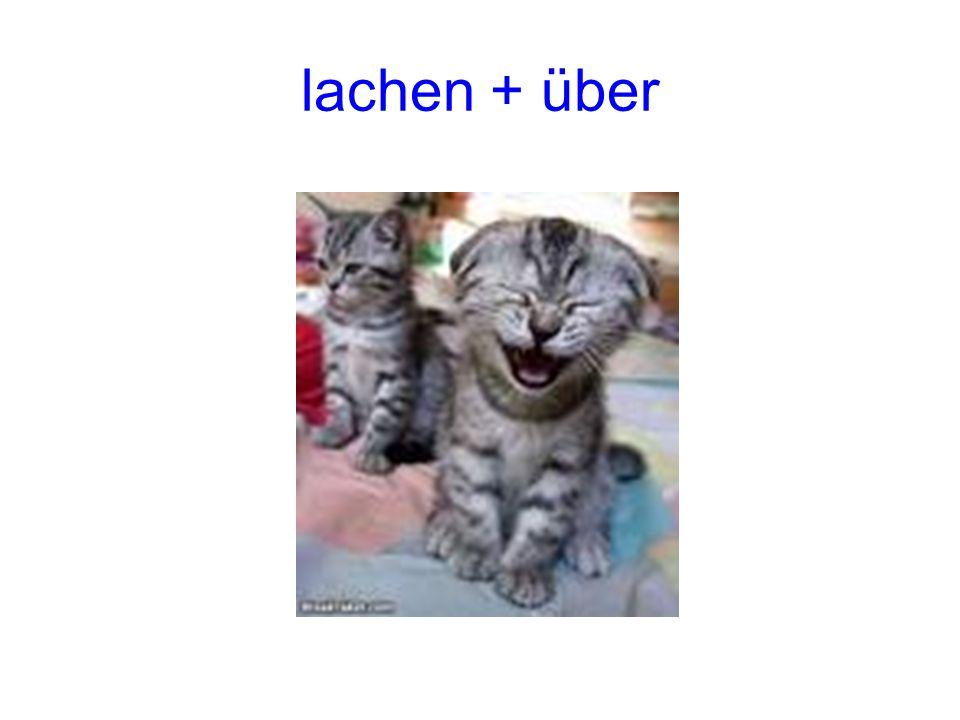 lachen + über