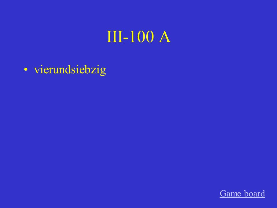 II-500 A gemein Game board
