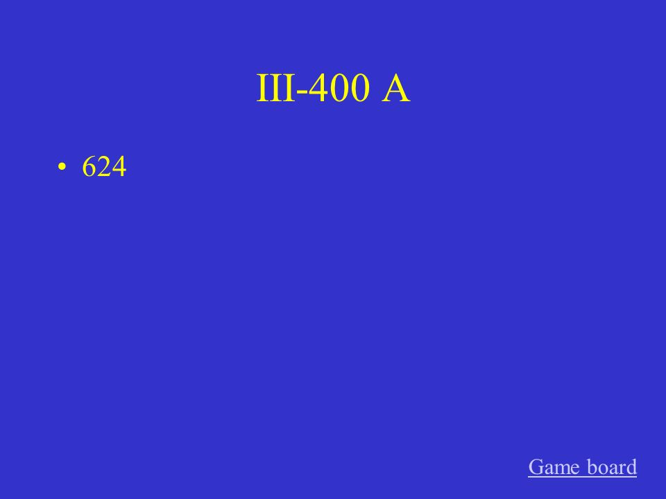 III-300 A 4973 Game board