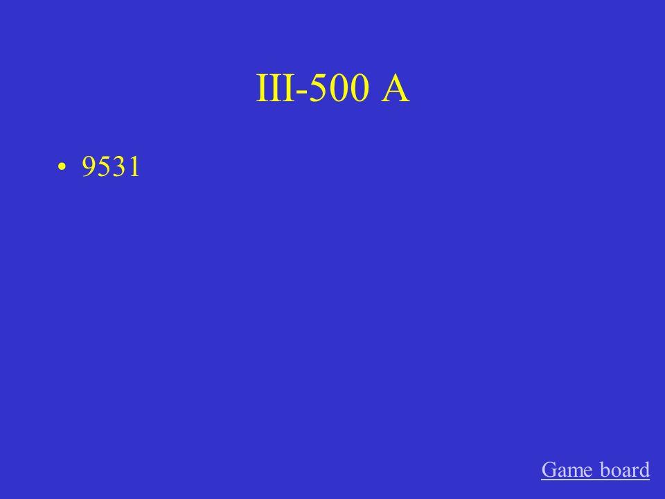 III-400 A 624 Game board