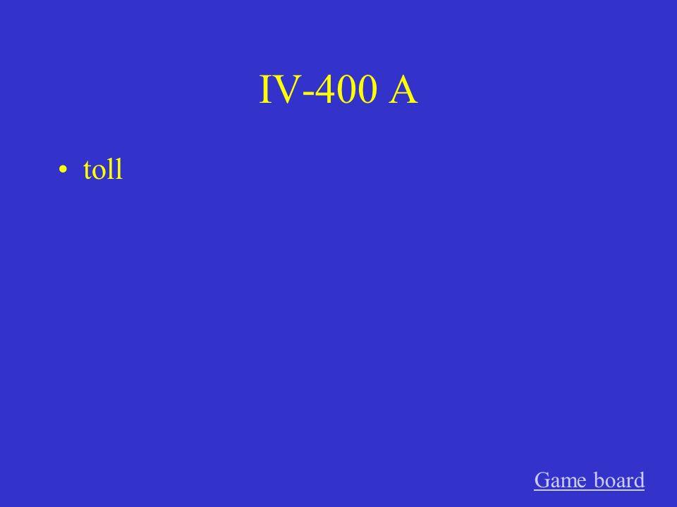IV-300 A meine Schwester Game board