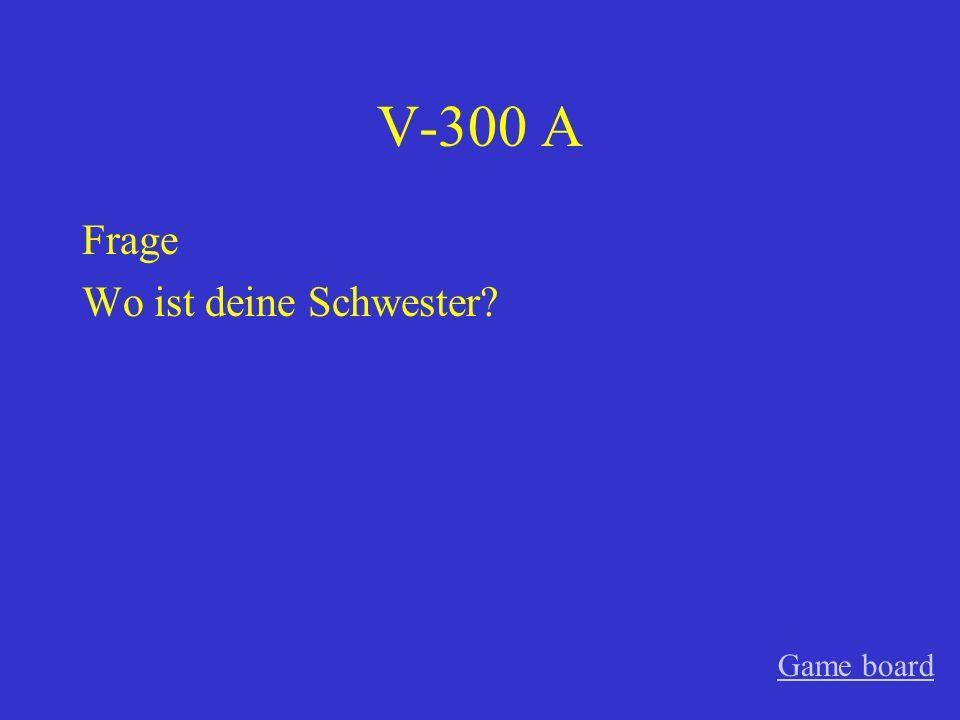 V-200 A Satz Die Frau wohnt in Berlin. Game board