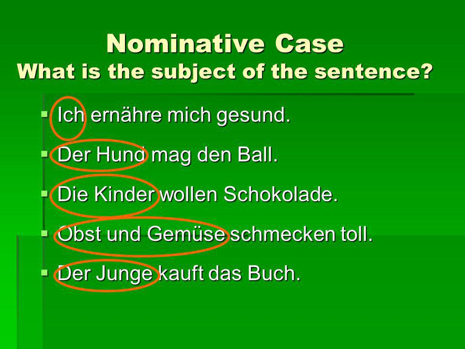 Jeder in the Nominative Case What is the subject of the sentence.