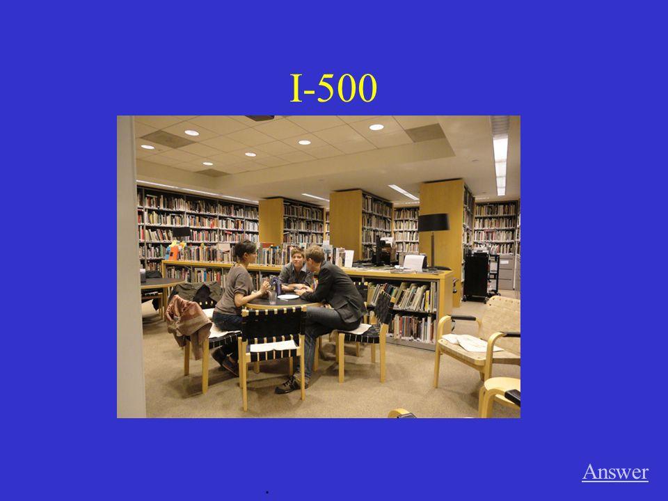 III-500 Answer. Timo Martin