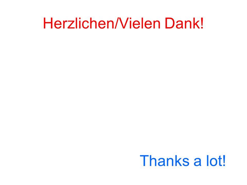 Herzlichen/Vielen Dank! Thanks a lot!