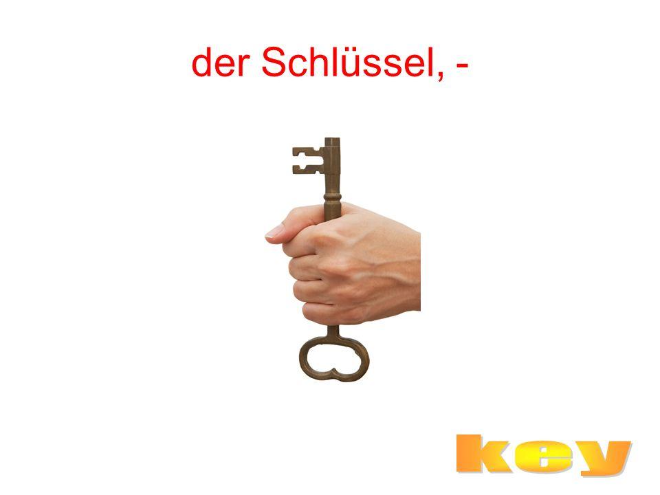der Schlüssel, -
