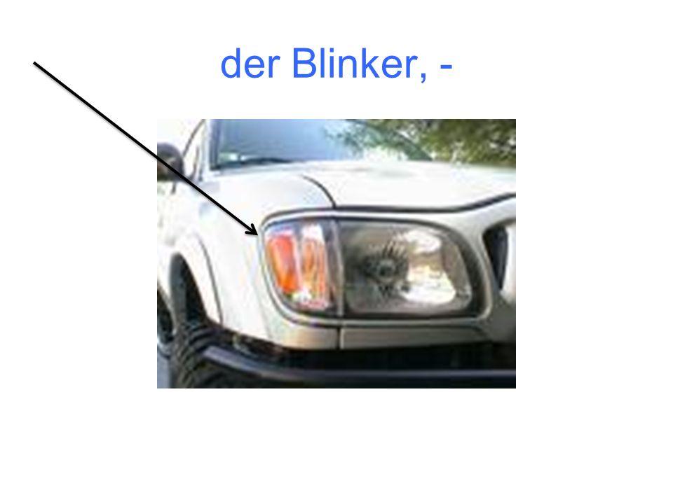 der Blinker, -