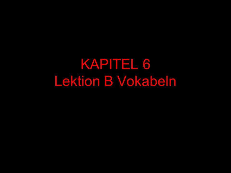 KAPITEL 6 Lektion B Vokabeln