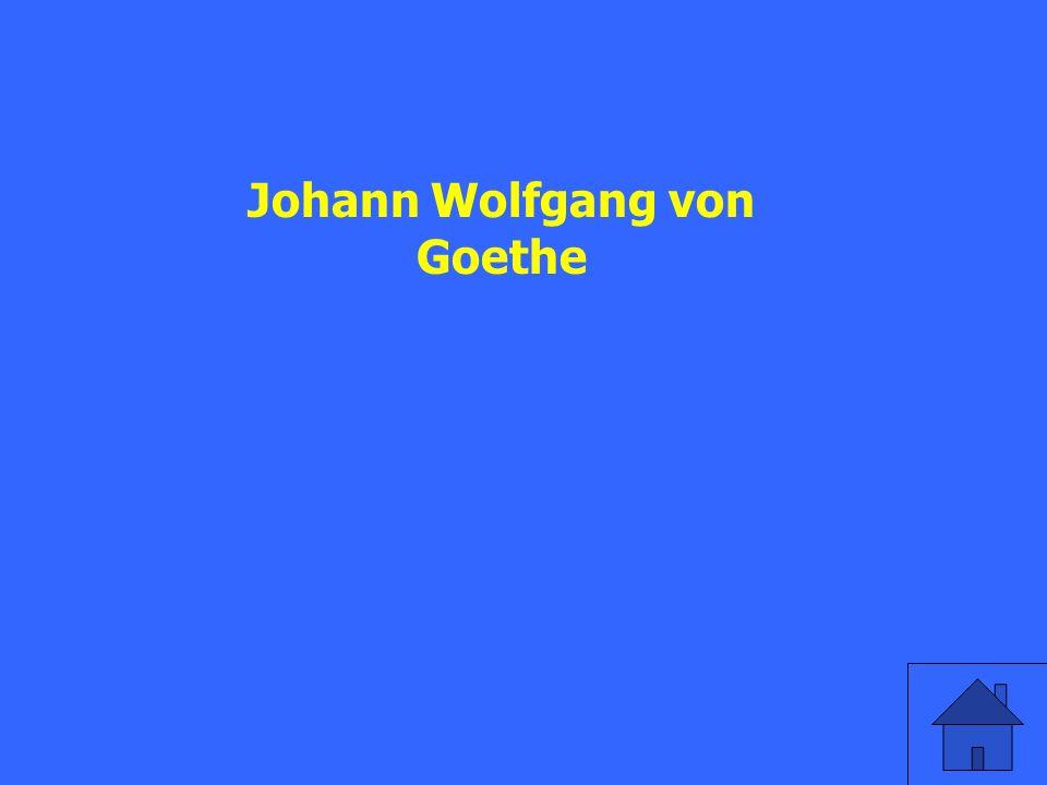 Wie heißt der bekannteste deutsche Dichter (poet)