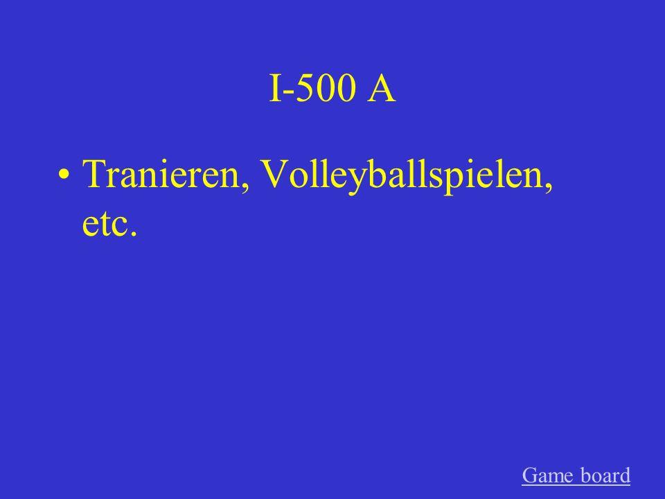 I-400 A zum Sprechen Game board