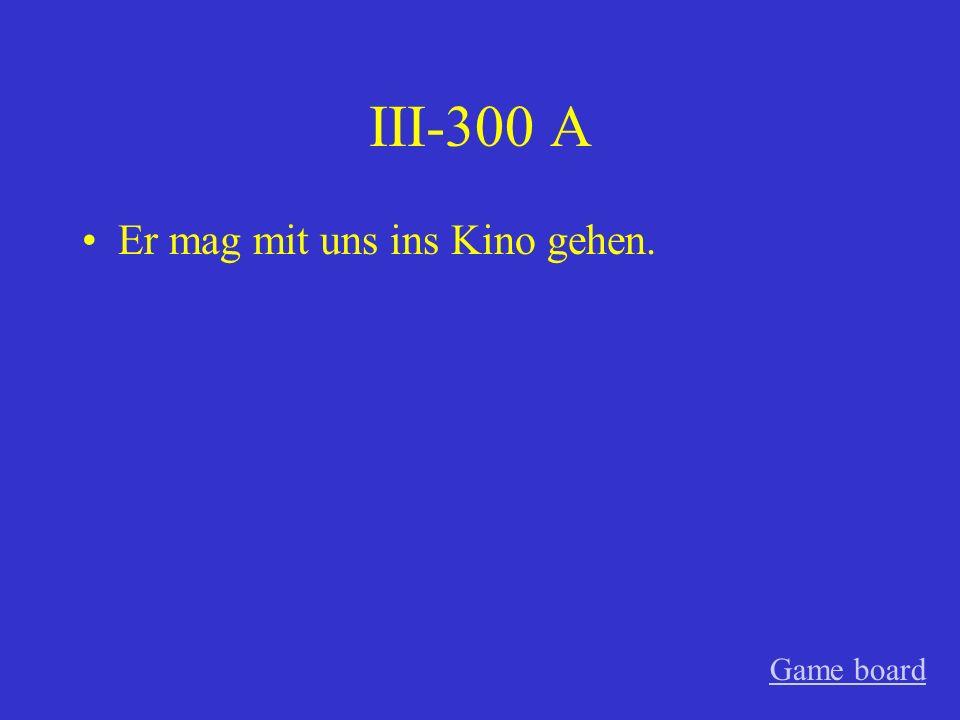 III-200 A Warum kannst du den Rasen nicht mähen? Game board