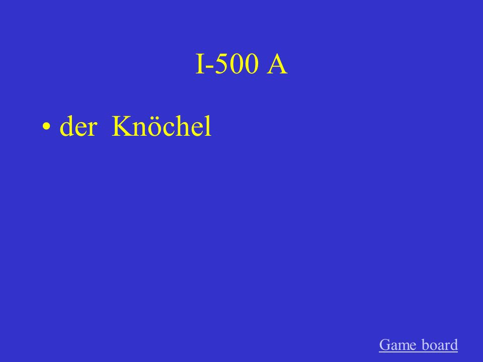 I-400 A der Bauch Game board