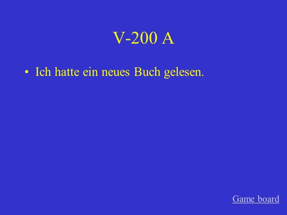 V-100 A Husten Game board