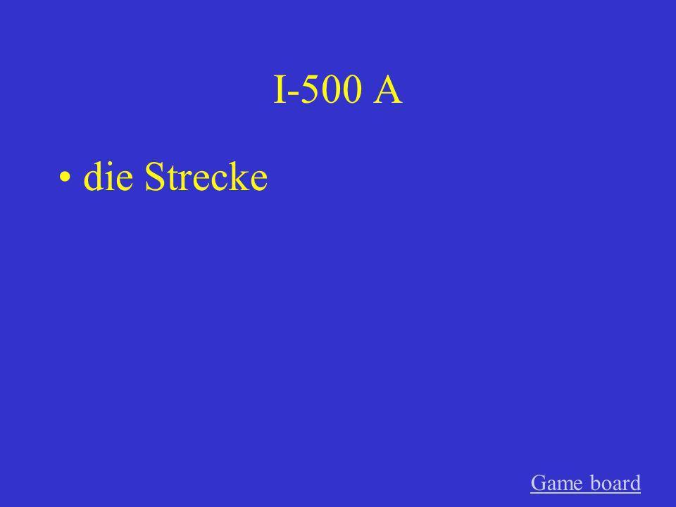 I-400 A der Wettkampf Game board