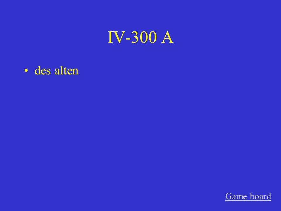 IV-200 A dem langen, die wunderbare Game board