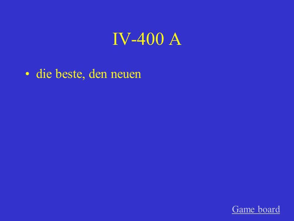 IV-300 A des alten Game board