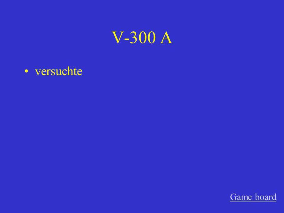 V-200 A die Anweisung Game board