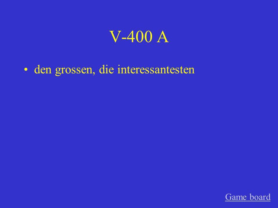 V-300 A versuchte Game board