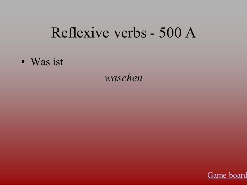 Reflexive verbs - 400 A Was ist sich fühlen, sich freuen, sich fit halten, sich ernähren Game board