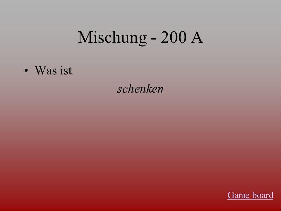 Mischung - 100 A Was ist…. Raucht Herr Werner nicht.