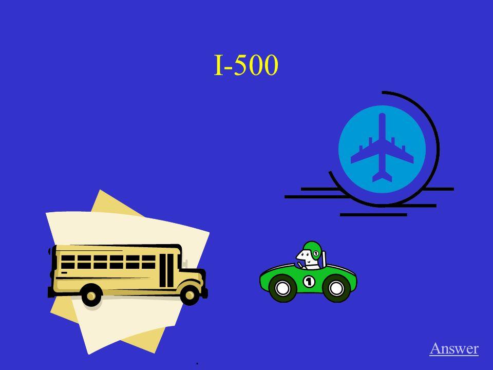 III-500 Answer. schicken