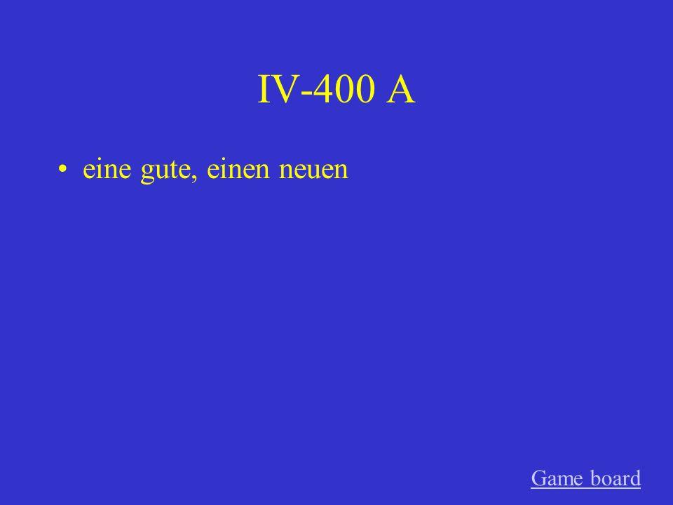 IV-300 A eines alten Game board