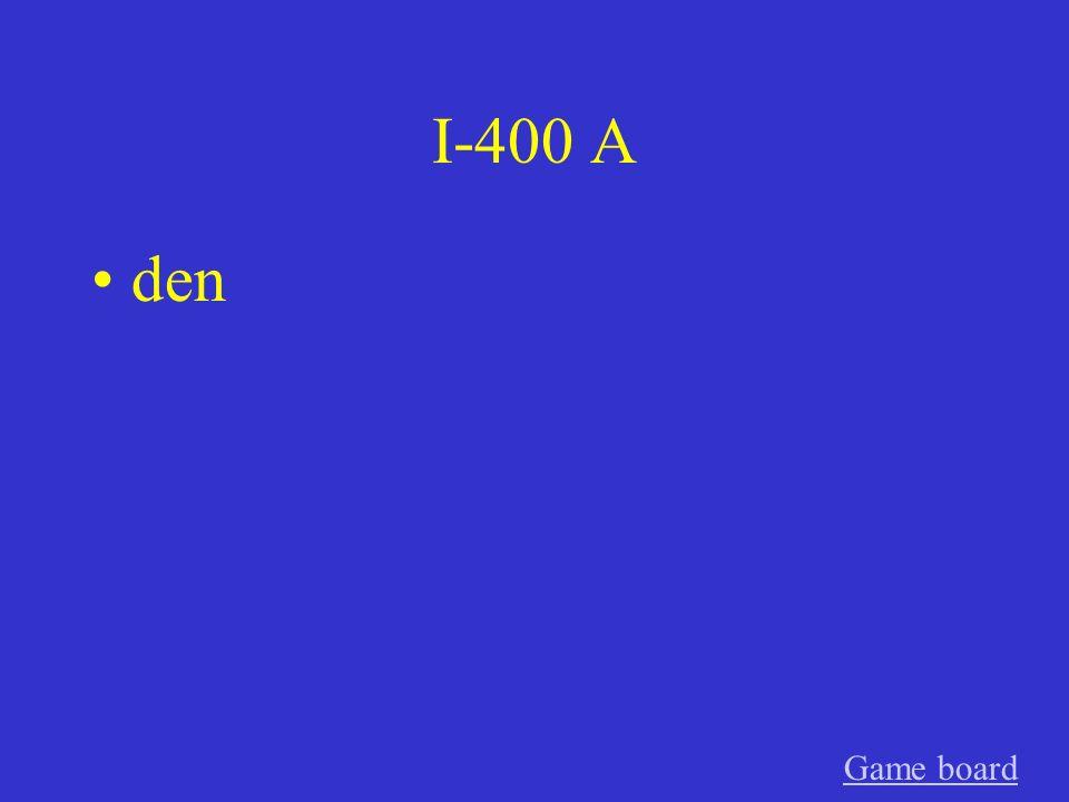 I-300 A Das, das, den GameGame board