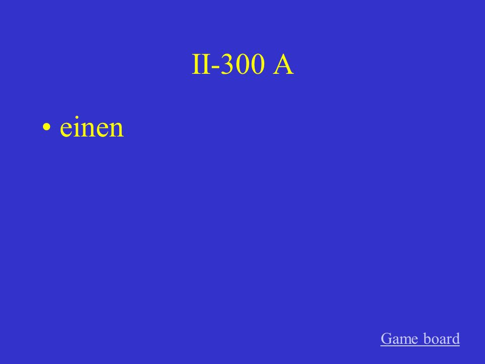 II-200 A Ein Game board