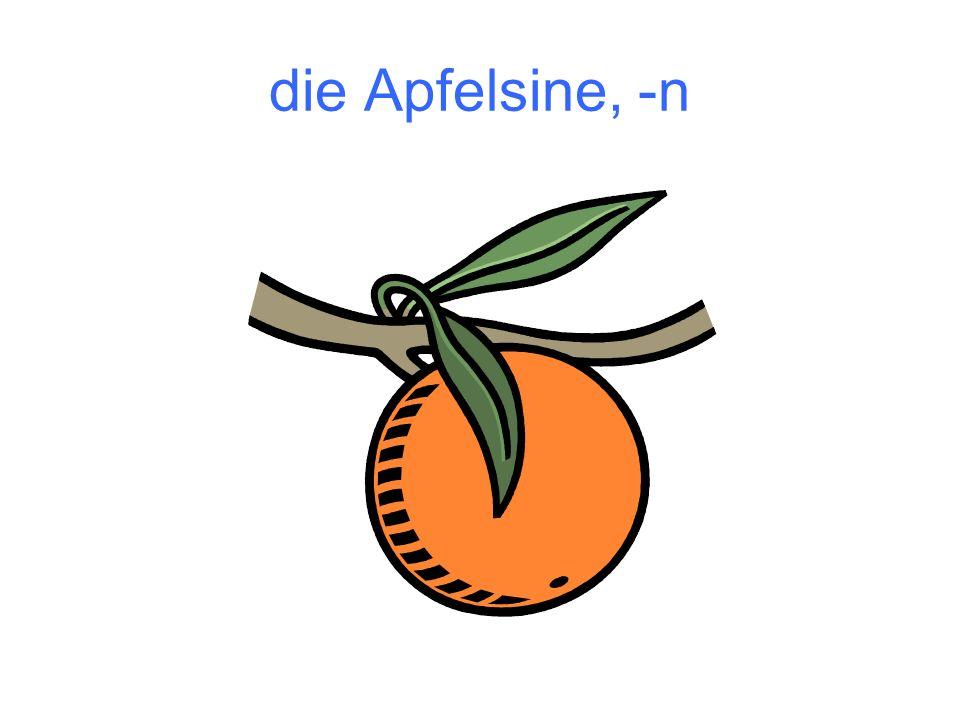die Apfelsine, -n