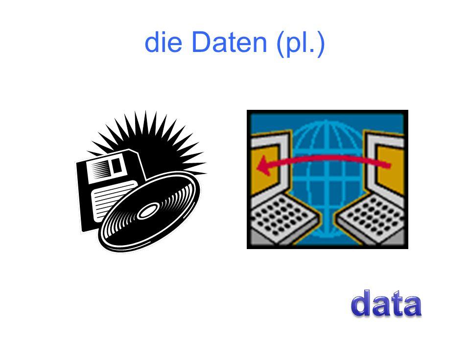 die Daten (pl.)