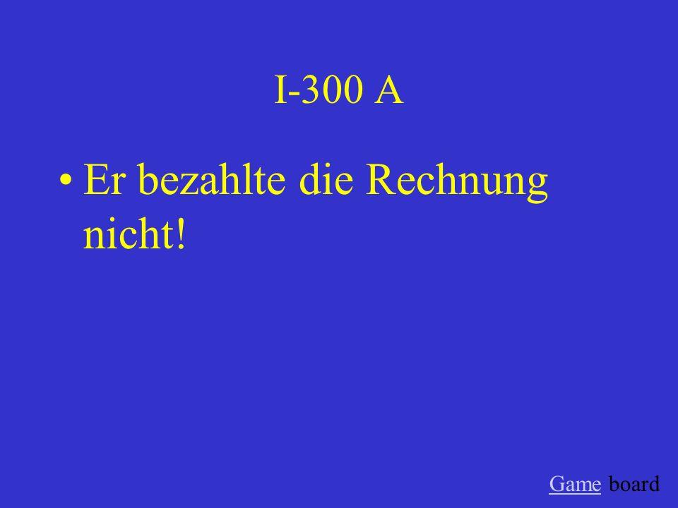 I-200 A Das gehört mir! Game board