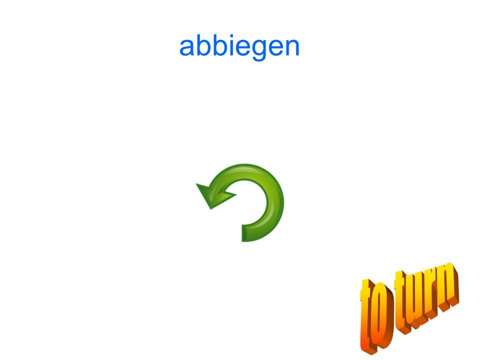 abbiegen