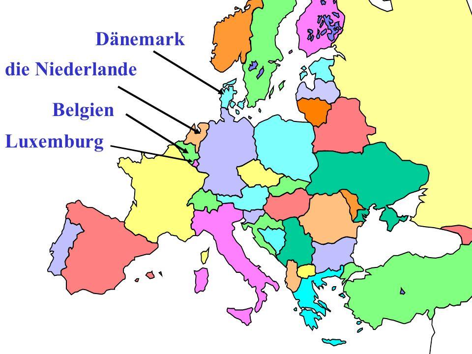 Dänemark die Niederlande Belgien Luxemburg