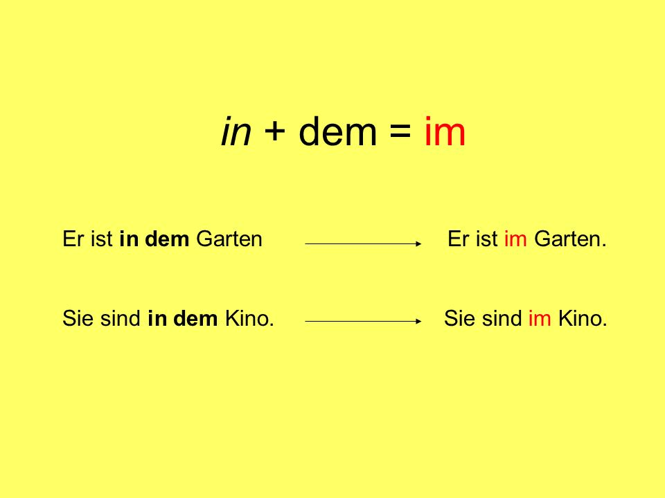 in + definite articles - Dativ (Platz) der + das masc.
