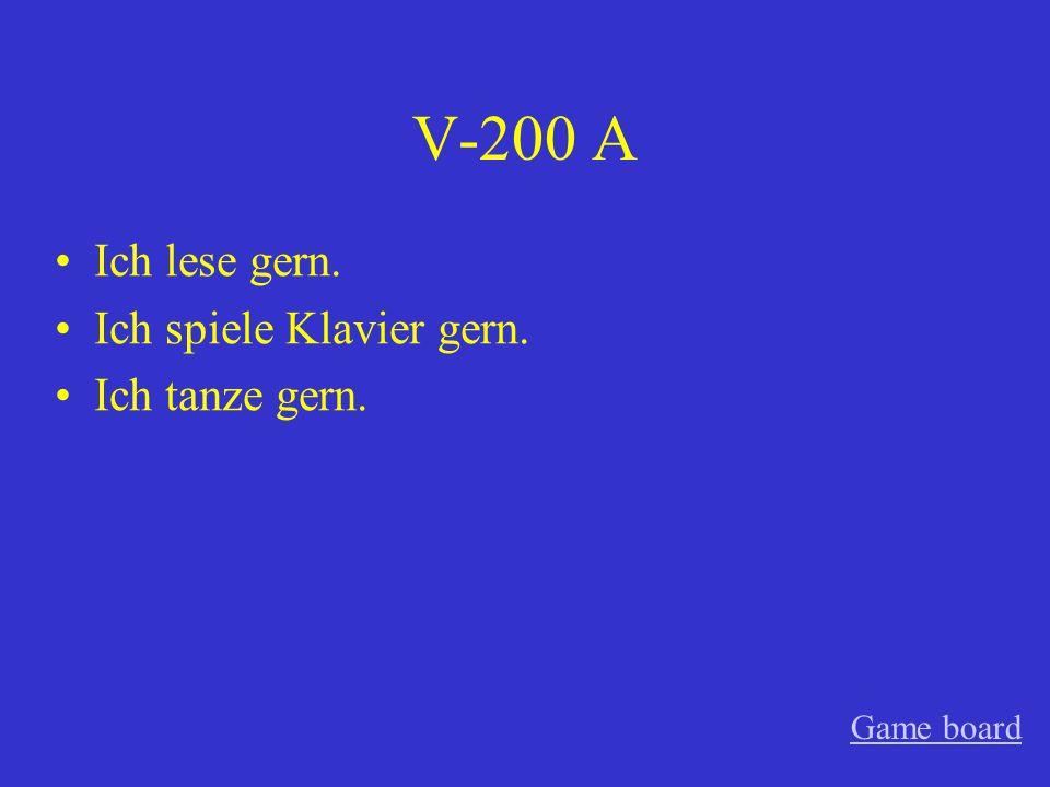 V-100 A nach Game board
