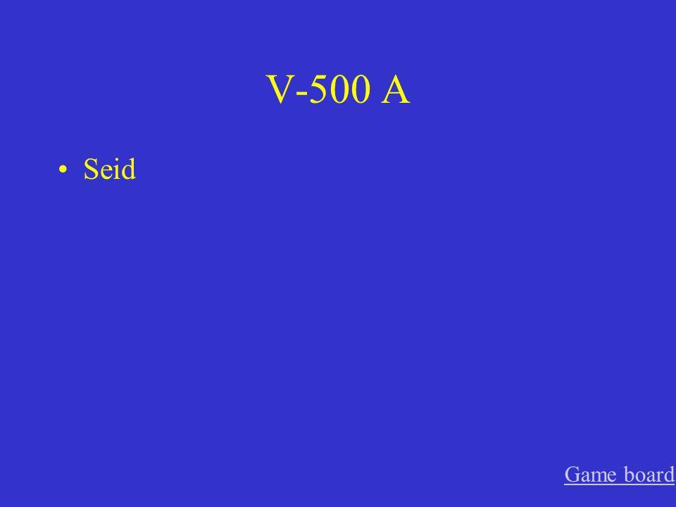 V-400 A fragt Game board