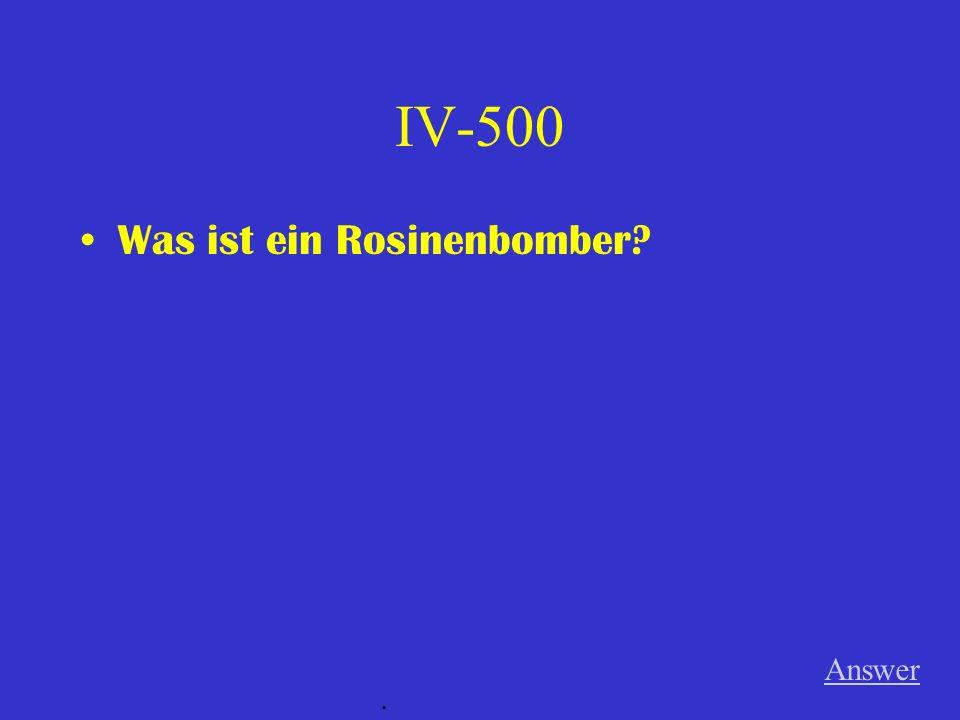 IV-400 Was bedeuten BRD und DDR? Answer.