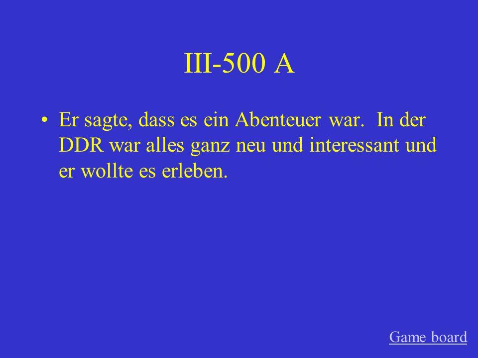 III-400 A Es ist für sie zu spät.