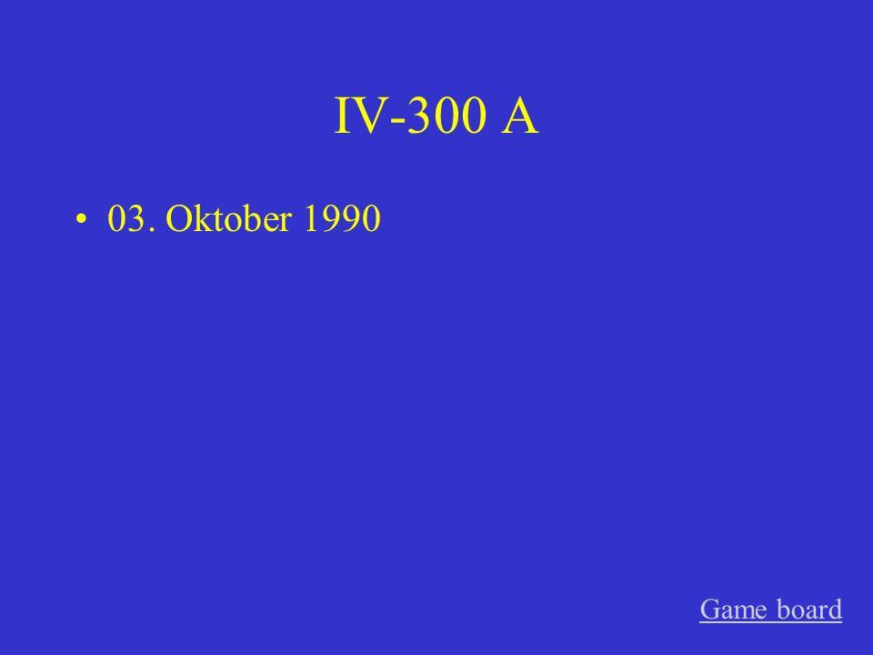 IV-200 A 09. November 1989 Game board