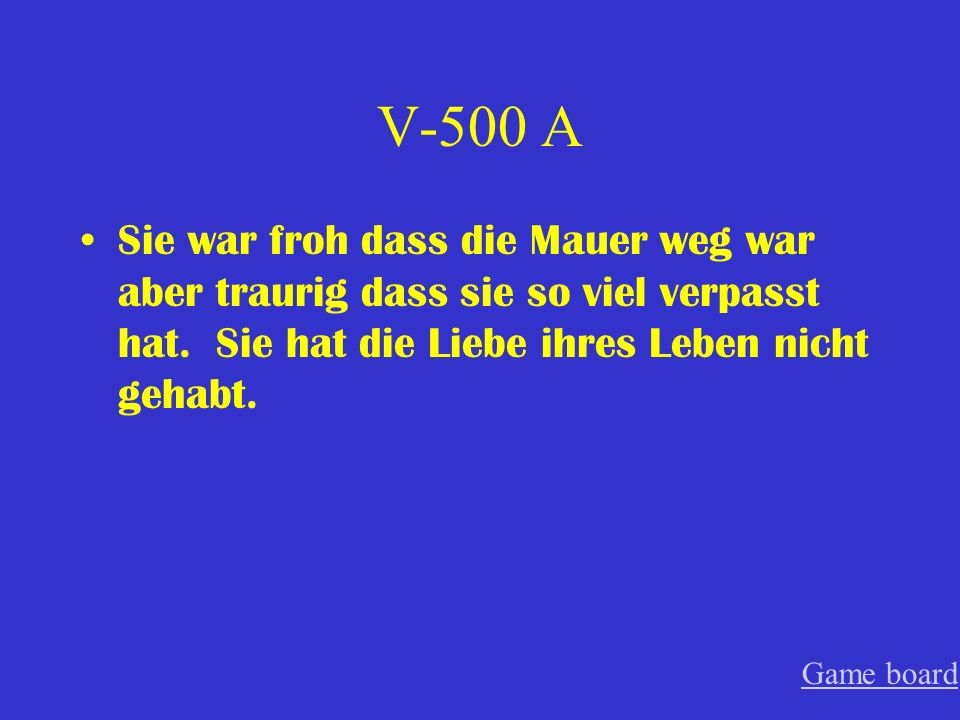 V-400 A verantwortlich Game board