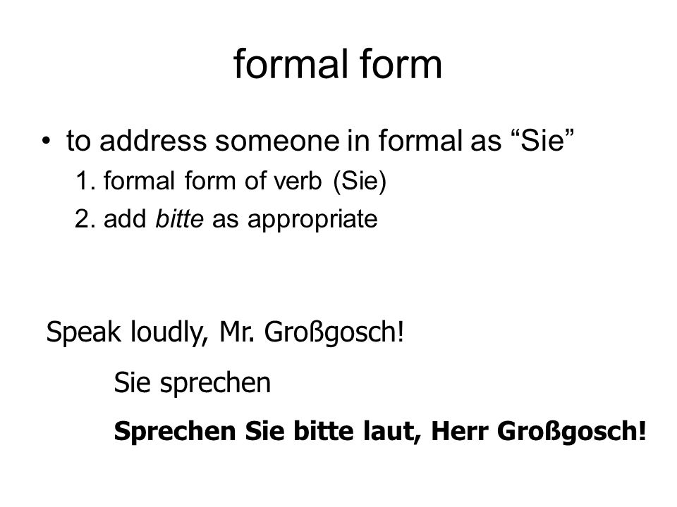 wir form to address a group including yourself 1.wir form of verb 2.