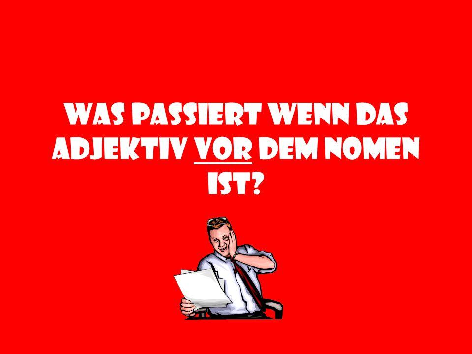 schön am schönsten (the prettiest) nett am nettesten (the nicest) gross am grössten (the biggest) klein am kleinsten (the smallest)