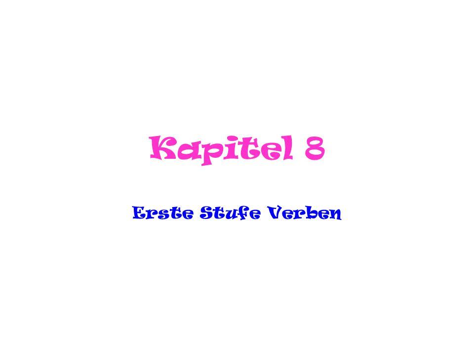 Kapitel 8 Erste Stufe Verben